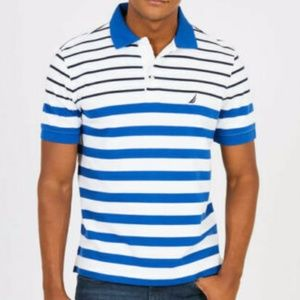 NAUTICA Engineered Textured Striped Polo Size 3XL